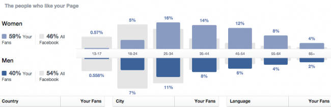 Facebook Insights Demographics
