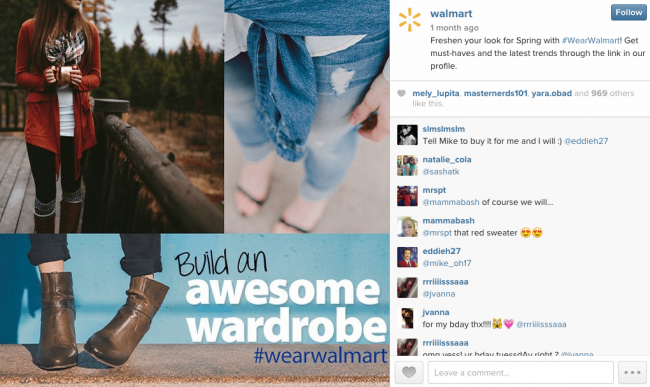 Walmart intagram post