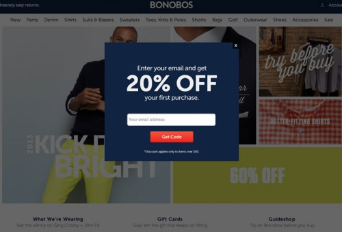 email newsletter popup