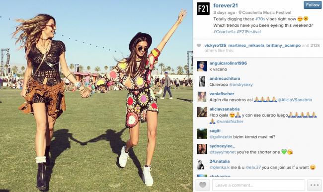 forever21 instagram post