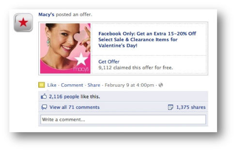 Use Facebook Offers
