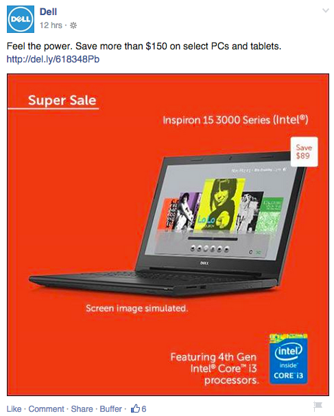 promotions dell facebook