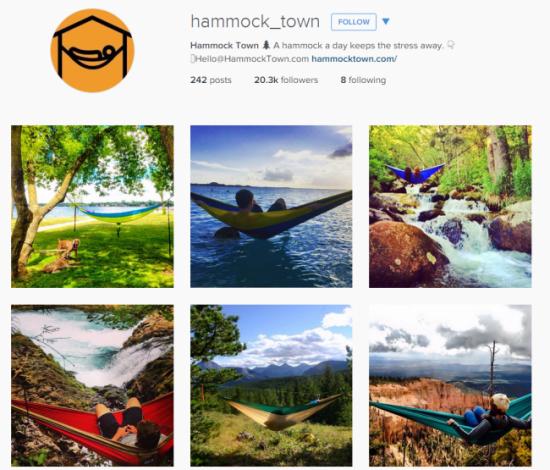 Hammock town on instagram