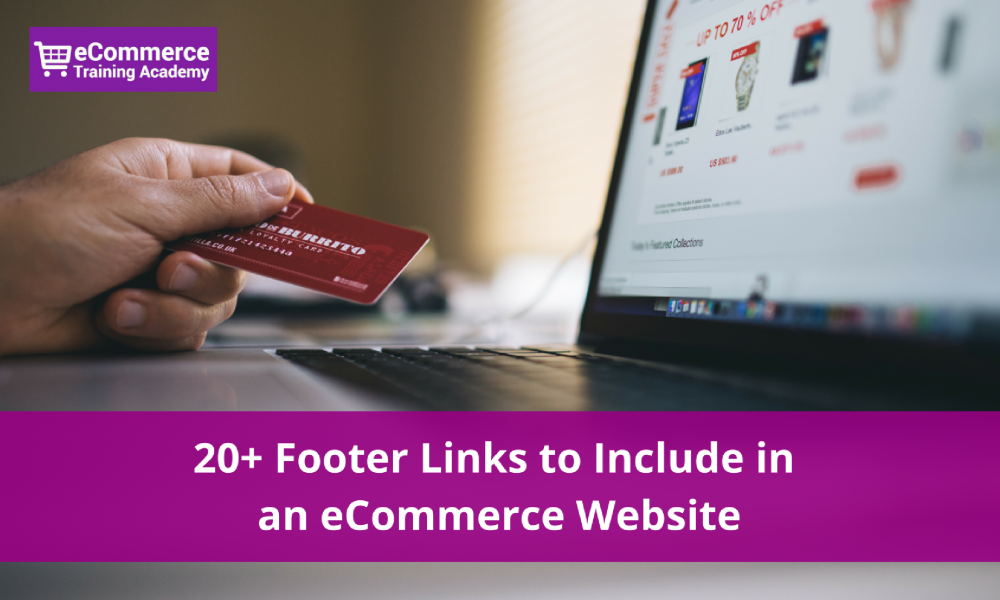 eCommerce footer links