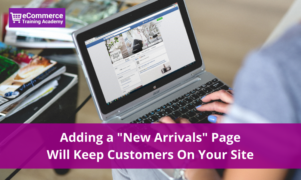new arrivals page ecommerce