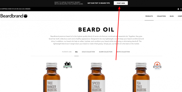 beard Oil Optin bar