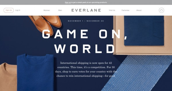 everlane optin bar