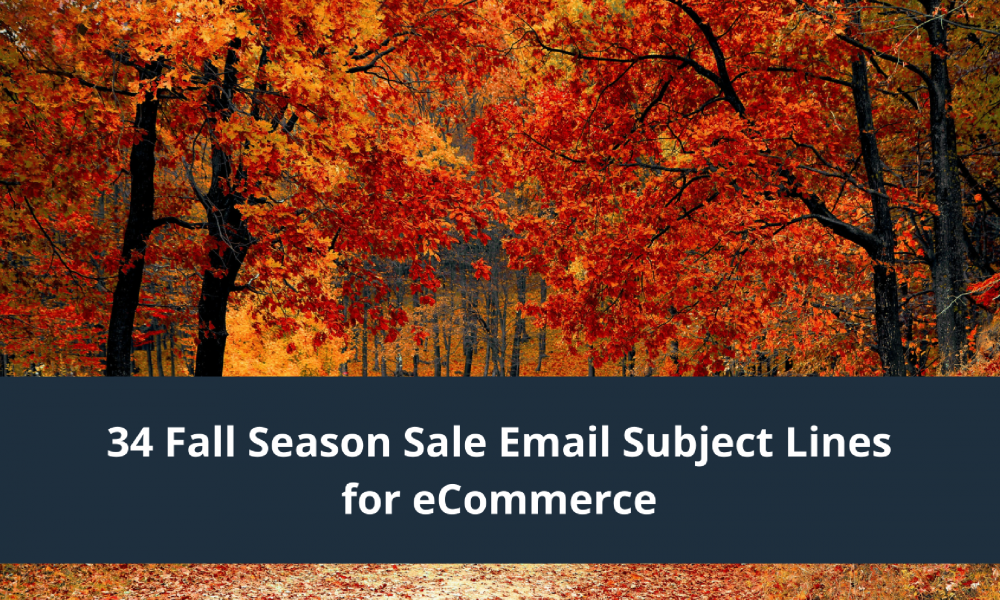 fall season subject line examples