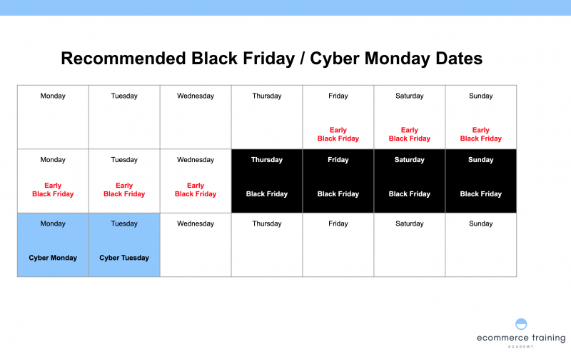 Black Friday Cyber Monday Calendar