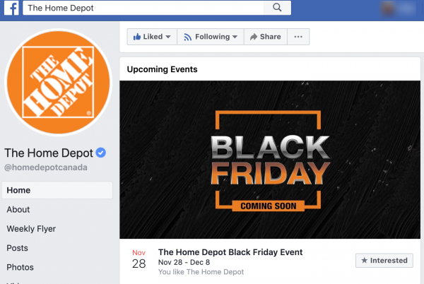 Promote Black Friday with Facebook Event