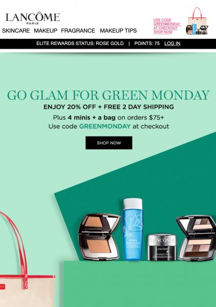lancome green monday sales