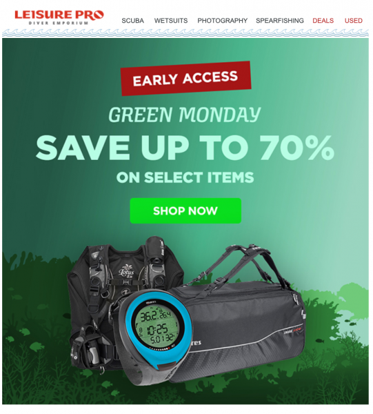 Leisure Pro Green Monday Sale