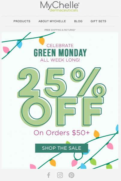 Mychelle Green Monday Sale