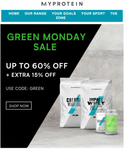 My Protein Green Monday Sale