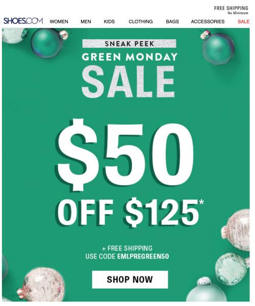 Shoes Green Monday Sale Idea