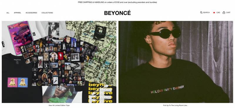 Beyonce Online Store