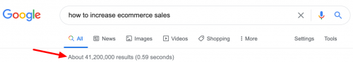 search how to increase ecommerce sales